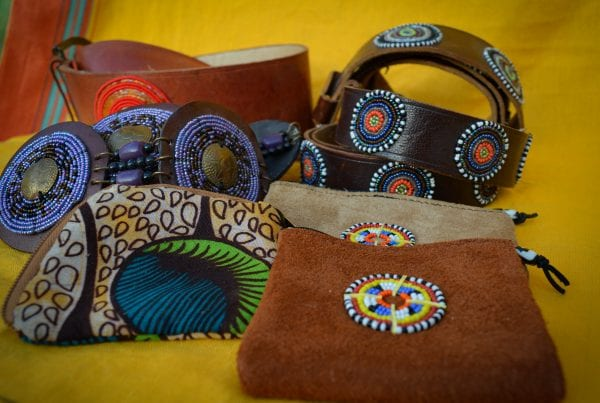 Beaded belts, pouches and other accessories are a popular gift item.